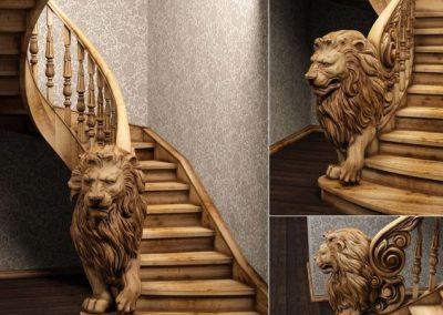 Σκάλα μπαρόκ με λιοντάρι